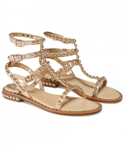 Ash Leather Play Gladiator Sandals