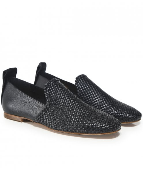 H by Hudson Leather Helena Weave Loafers