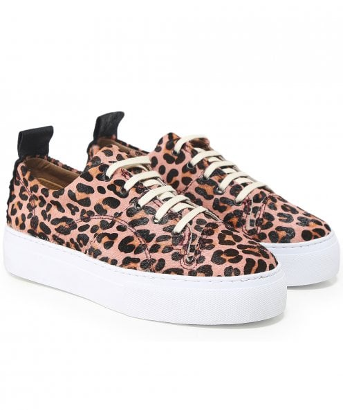 H by Hudson Daphne Leopard Print Trainers