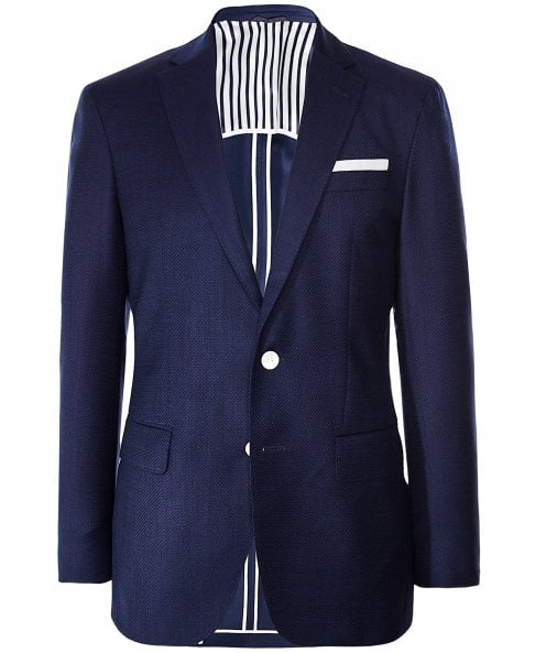 BOSS Textured Virgin Wool Hartlay Blazer