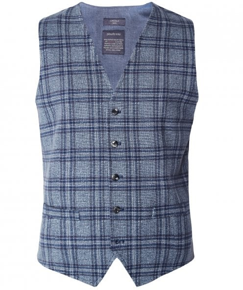 Circolo 1901 Stretch Cotton Tweed Check Waistcoat