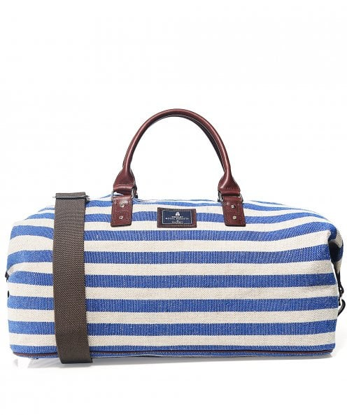 Hackett Striped Cotton Canvas Holdall