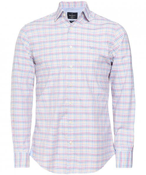 Hackett Slim Fit Melange Gingham Shirt