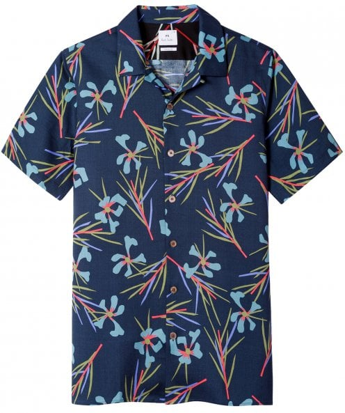 PS by Paul Smith Casual Fit Cypress Print Shirt