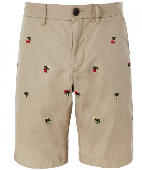 Tommy Hilfiger Cotton Twill Palm Tree Brooklyn Shorts