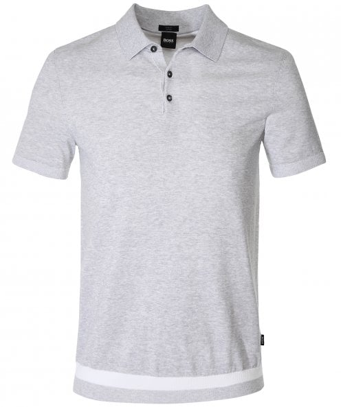 BOSS Slim Fit Knitted Filberto Polo Shirt