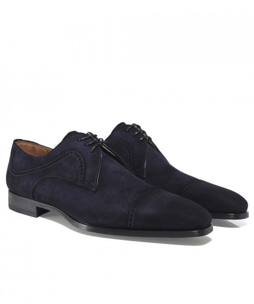 Magnanni Suede Thunder Derby Shoes