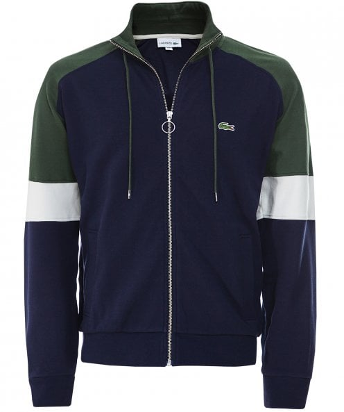 Lacoste Pique Cotton Zip-Through Sweatshirt