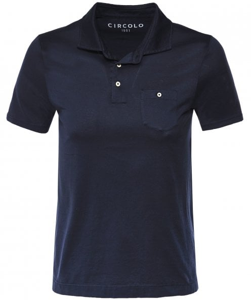 Circolo 1901 Cotton Jersey Pocket Polo Shirt