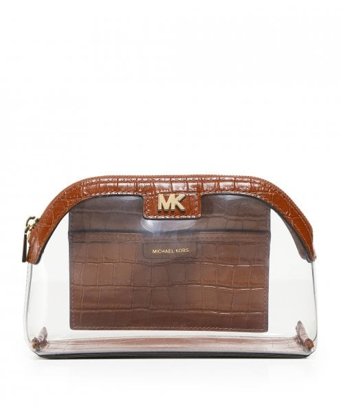 MICHAEL Michael Kors Large PVC and Leather Travel Pouch