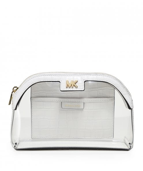 Michael Kors Large PVC and Leather Travel Pouch