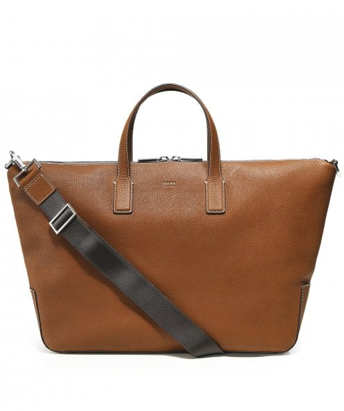 BOSS Leather Crosstown C_Daily Holdall