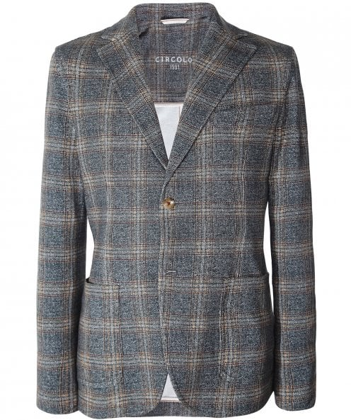 Circolo 1901 Stretch Cotton Check Jacket