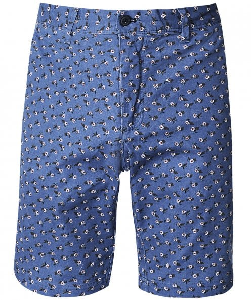 Ganesh Regular Fit Daisy Print Shorts