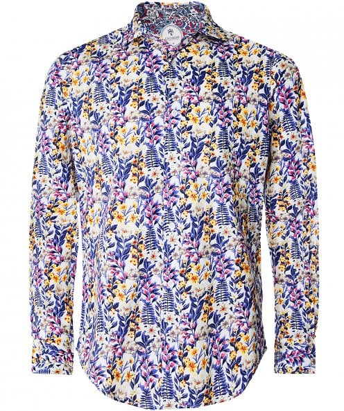 Ganesh Cotton Mixed Floral Shirt