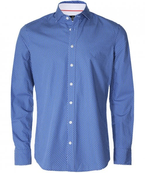 Hackett Slim Fit Leaf Print Shirt