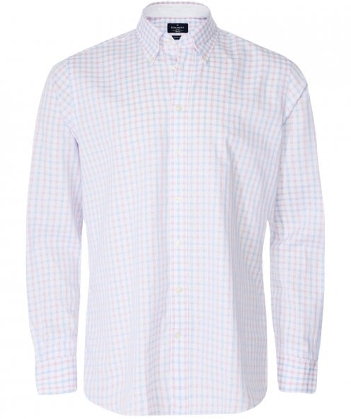 Hackett Classic Fit Two-Tone Gingham Shirt