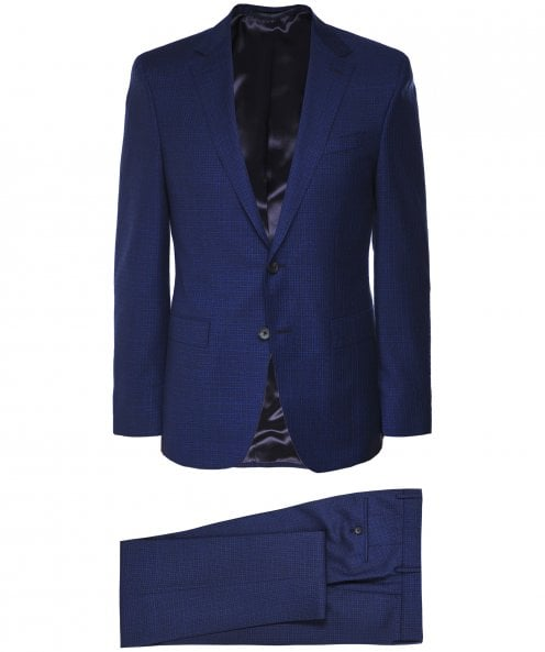 BOSS Slim Fit Virgin Wool Check Novan6/Ben2 Suit