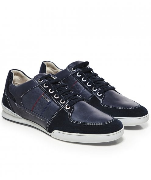 Geox Waxed Leather Kristof Trainers