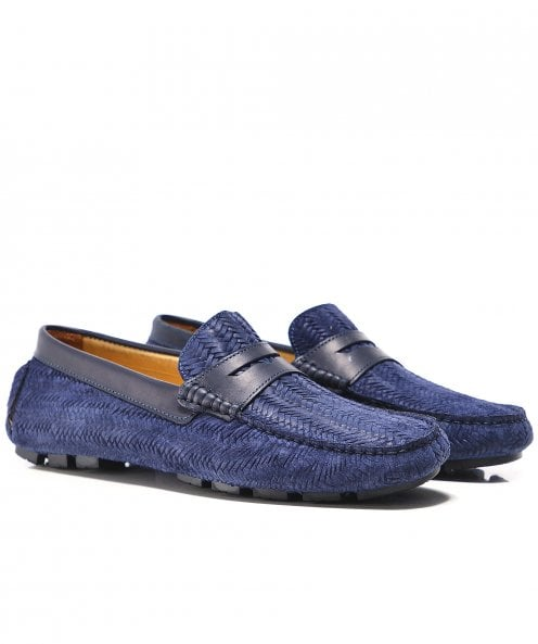 Joss Woven Suede Canester Driving Shoes