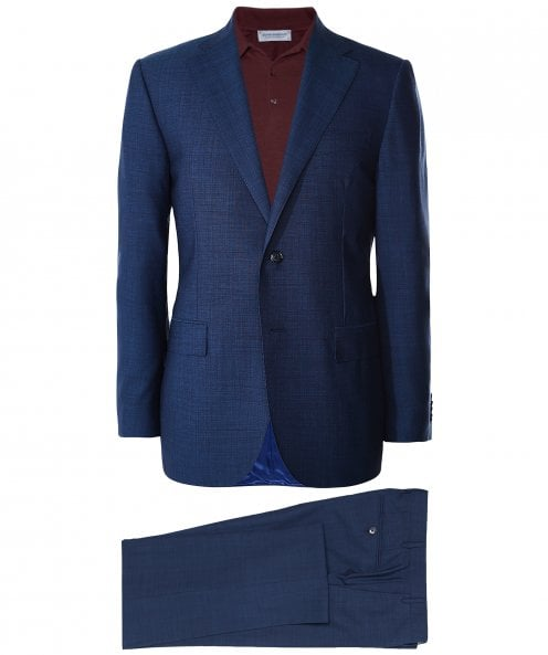 Corneliani Virgin Wool Pin Dot Suit