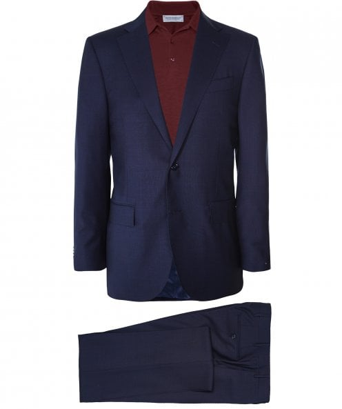 Corneliani Virgin Wool Prince of Wales Check Suit
