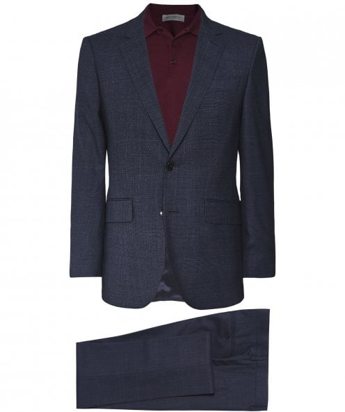 Hackett Wool Glen Check Suit