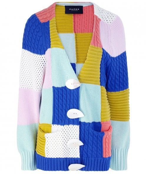 PAPER London Patchwork Cardigan