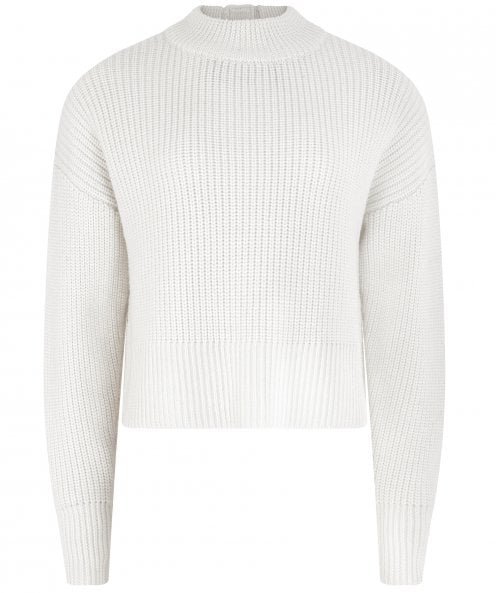 PAPER London Cass Merino Wool Button Back Jumper