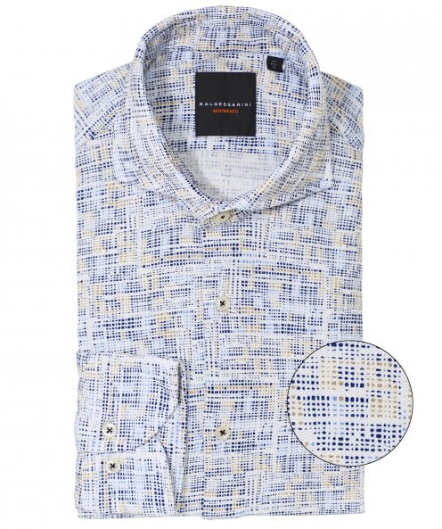 Baldessarini Tailored Fit Flannel Henry Shirt