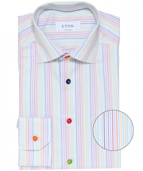 Eton Contemporary Fit Striped Shirt