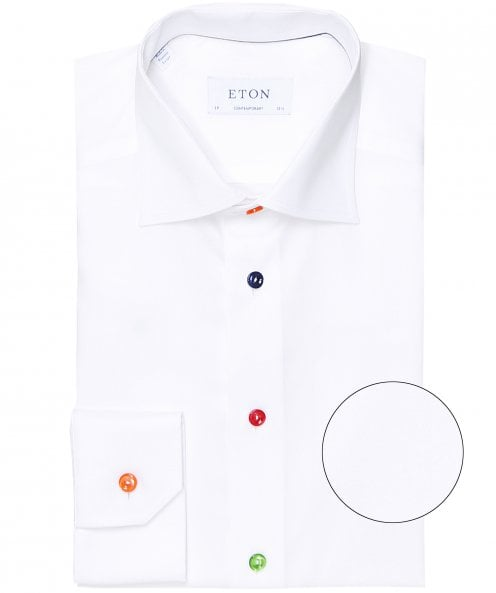 Eton Contemporary Fit Multi Button Shirt