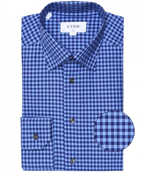 Eton Slim Fit Gingham Shirt