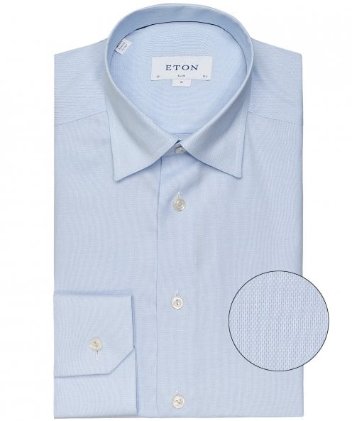 Eton Slim Fit Micro Pattern Shirt