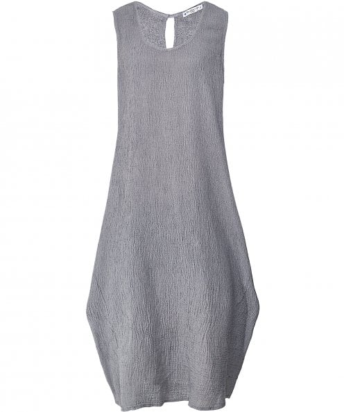 Blueberry Italia Linen Sleeveless Crepe Dress