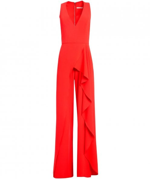 Alice and Olivia Maxie Ruffled Jumpsuit