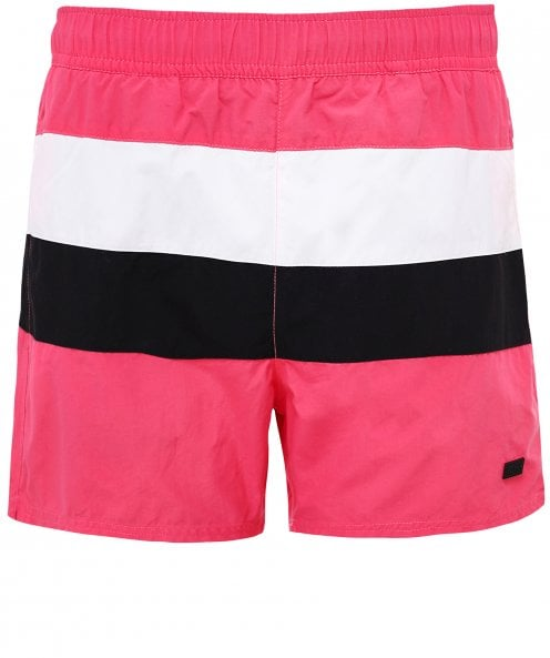BOSS Striped Filefish Swim Shorts