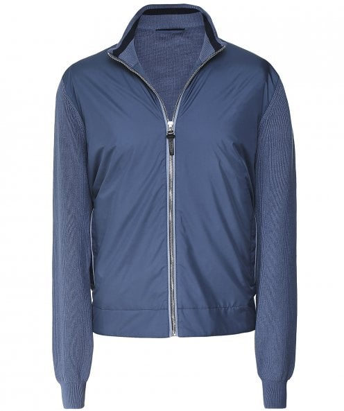 Hackett Padded Knitted Bomber Jacket