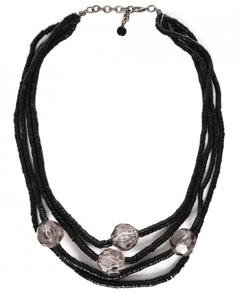 Zen Jewellery Crystal Detail Beaded Necklace