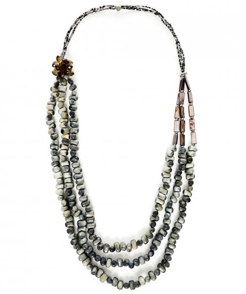 Zen Jewellery Long Multi Strand Beaded Necklace