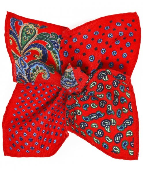 Ascot Accessories Wool Paisley Pocket Square