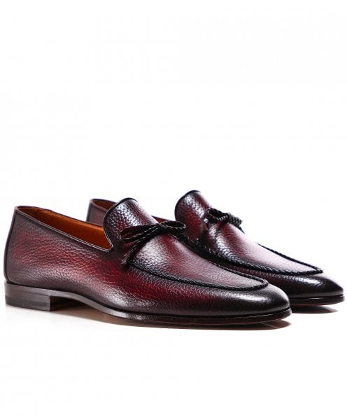 Magnanni Tumbled Leather Lace Loafers