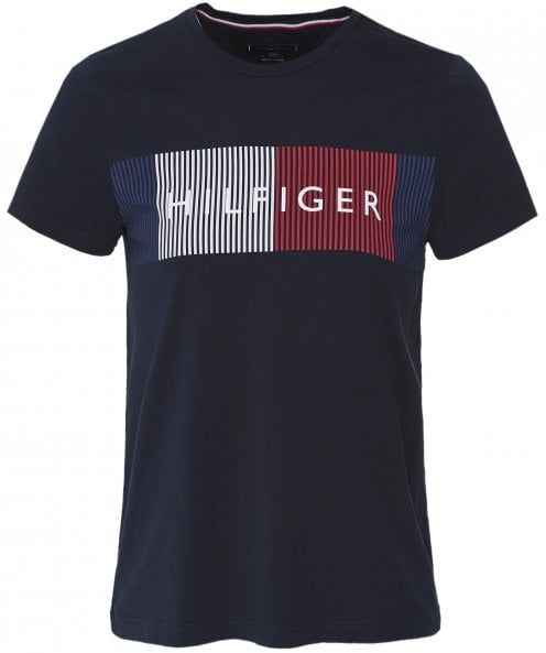 Tommy Hilfiger Organic Cotton Geometric Logo T-Shirt