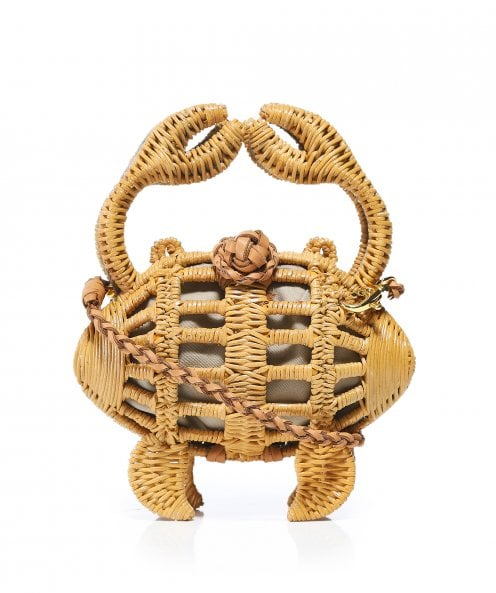 Aranaz Baby Crab Wicker Clutch Bag