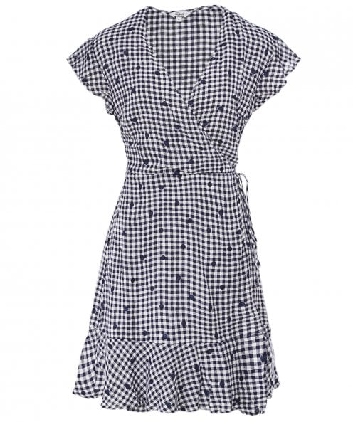 Rails Leanne Gingham Wrap Dress