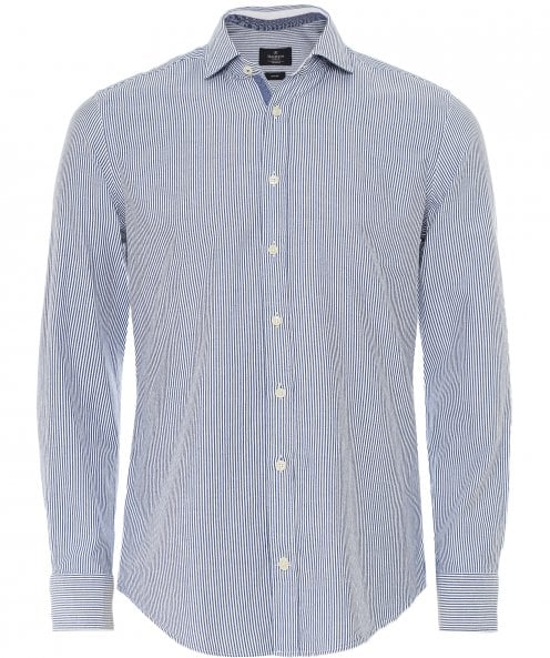 Hackett Slim Fit Brushed Flannel Striped Shirt
