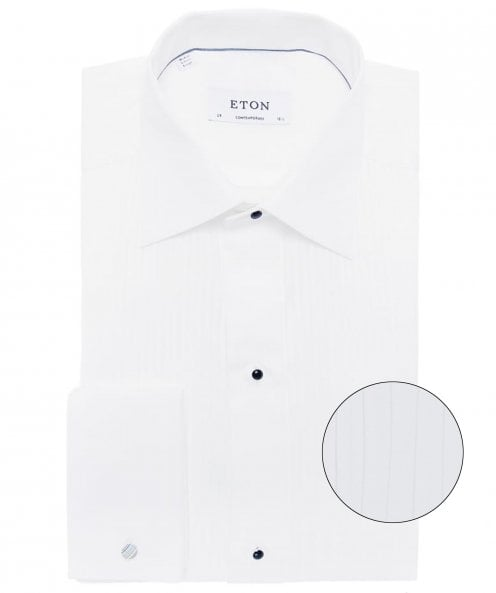 Eton Contemporary Fit Plissé Dress Shirt