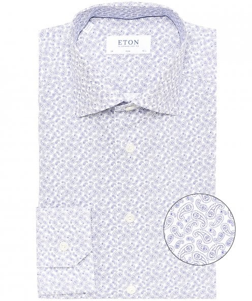 Eton Slim Fit Micro Paisley Shirt