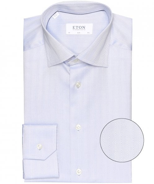 Eton Slim Fit Herringbone Shirt
