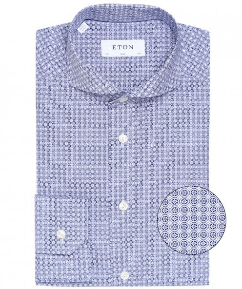 Eton Slim Fit Geometric Floral Shirt